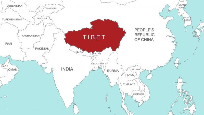Geography of tibet location of tibet in world map location of tibet in world map gumiabroncs Image collections